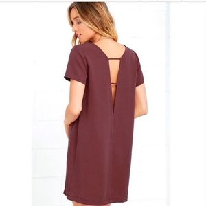 Lulu's Mumbai The Way Shift Dress- deep-v back!